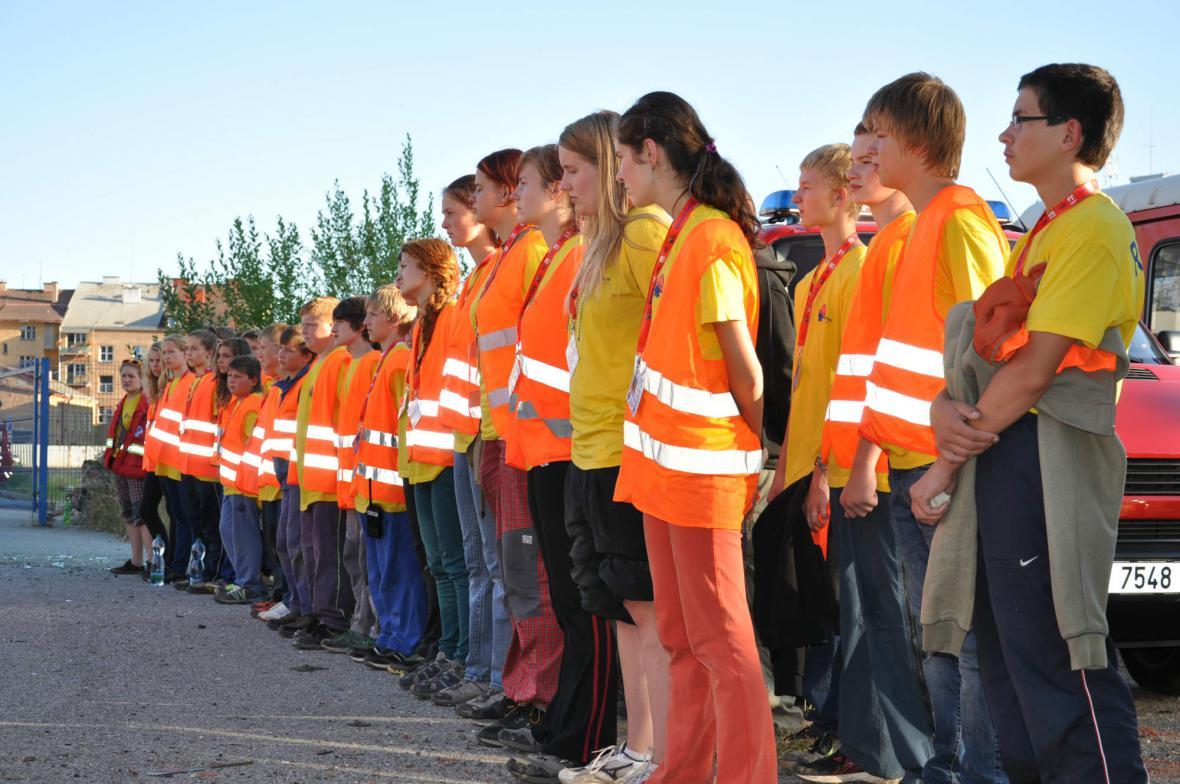 Cvičení mladých hasičů v Náchodě