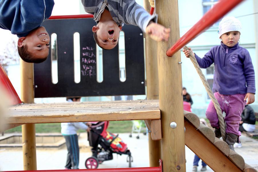 Romské děti v Opavě