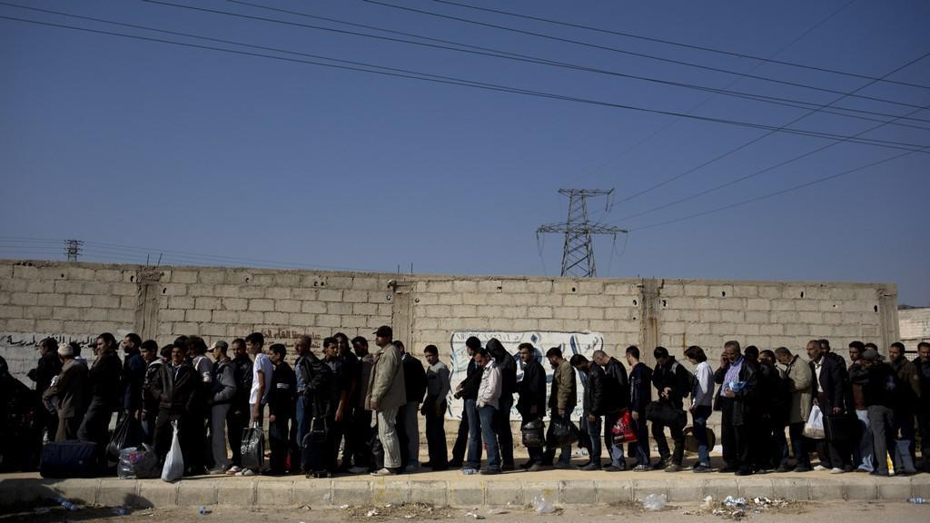 Evakuace na předměstí Damašku