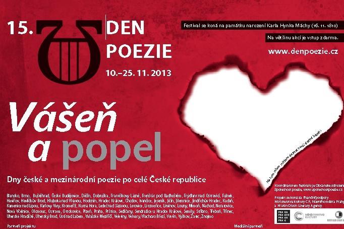 Plakát 15. ročníku Dne poezie