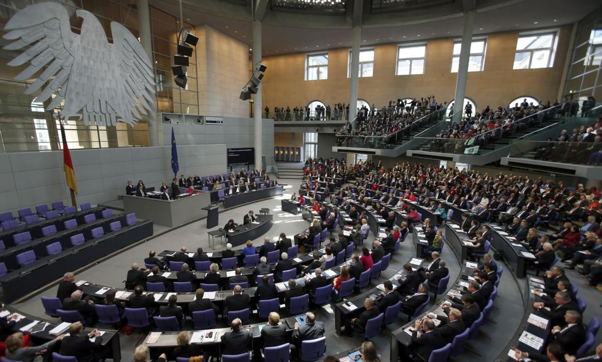 Zasedání německého parlamentu