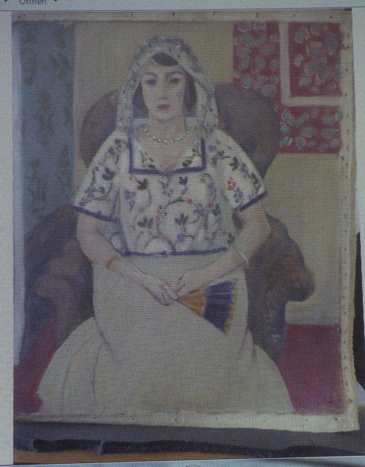 Nalezený obraz Henriho Matisse Sedící žena