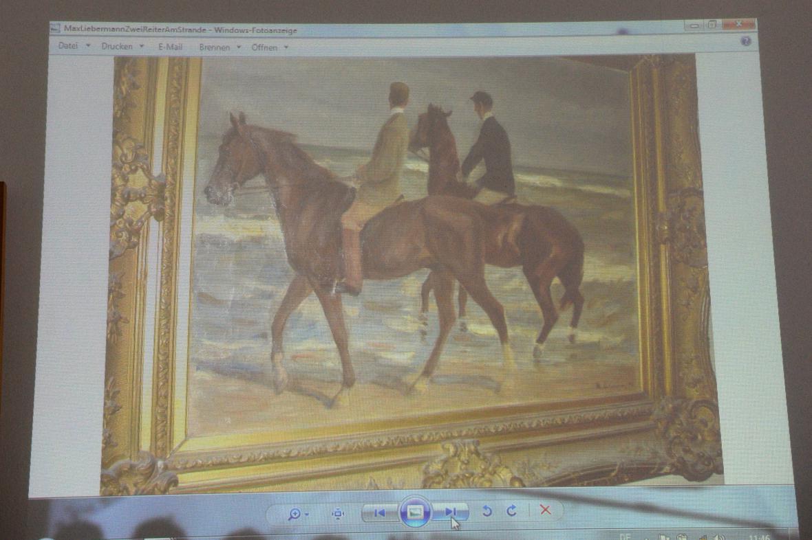 Nalezený obraz Maxe Liebermanna Dva jezdci na pláži