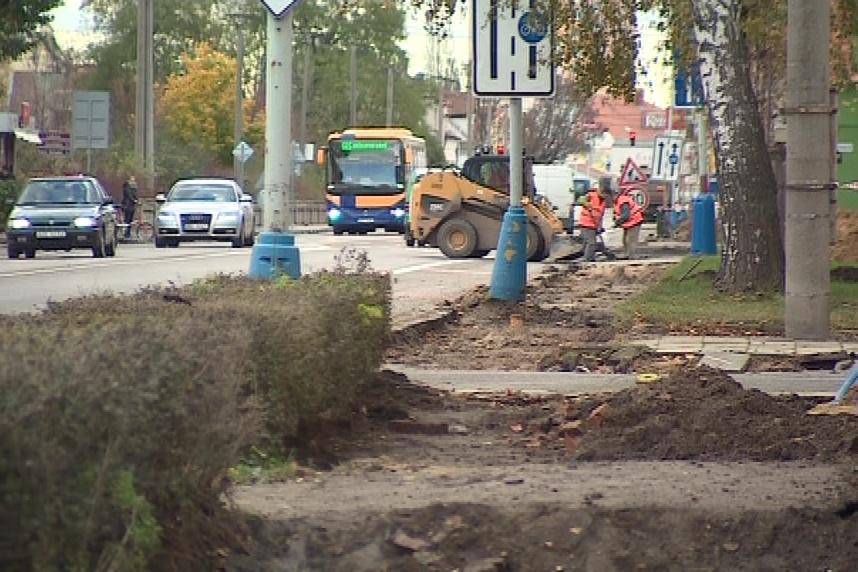 Oprava chodníků v Břeclavi