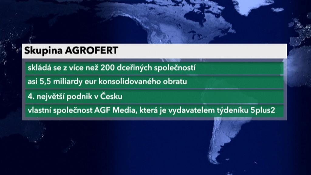 Vizitka společnosti Agrofert