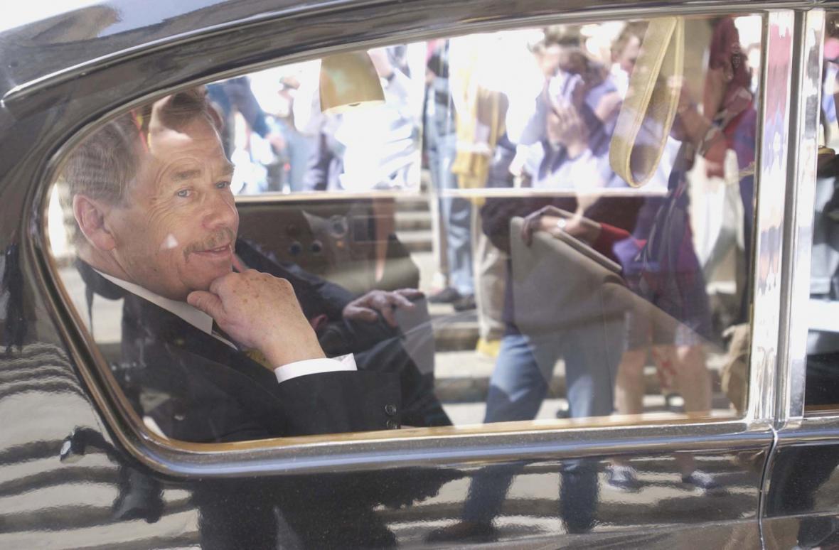 Václav Havel na návštěvě Malty v roce 2002