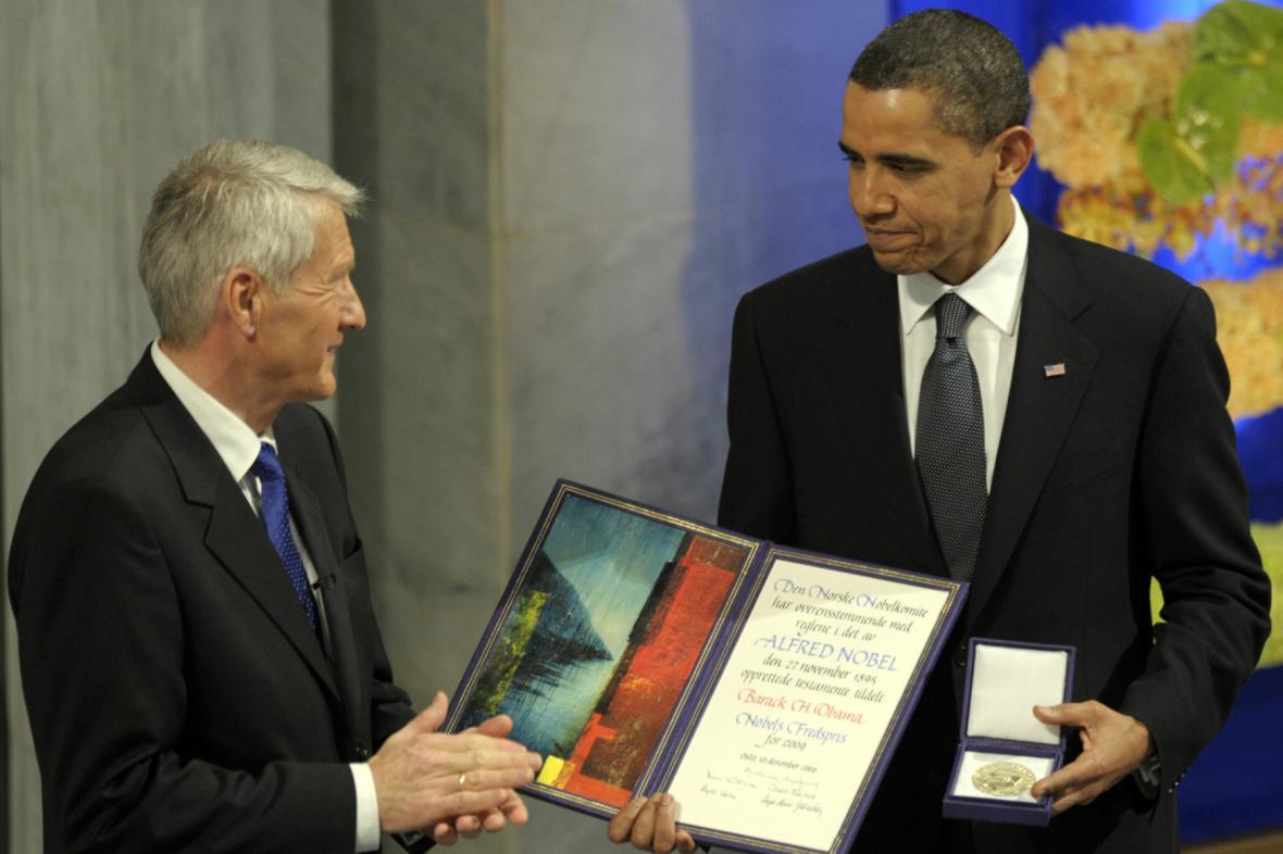 Barack Obama dostal Nobelovu cenu míru v roce 2009