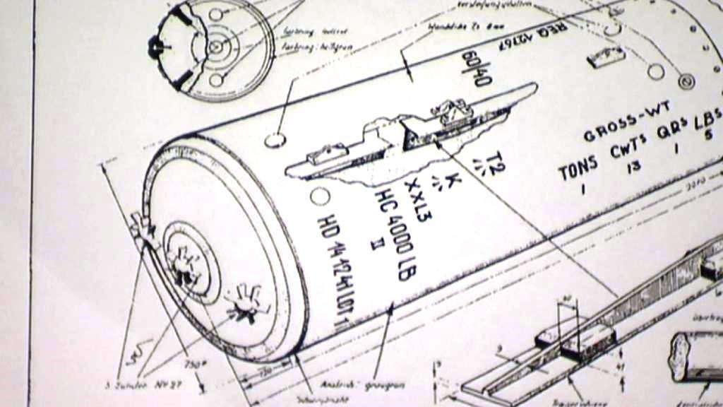 Nákres letecké bomby