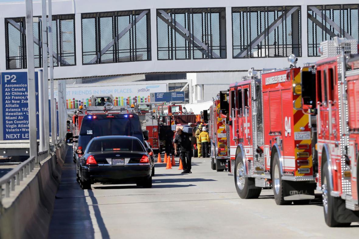 Zásah u letiště v Los Angeles