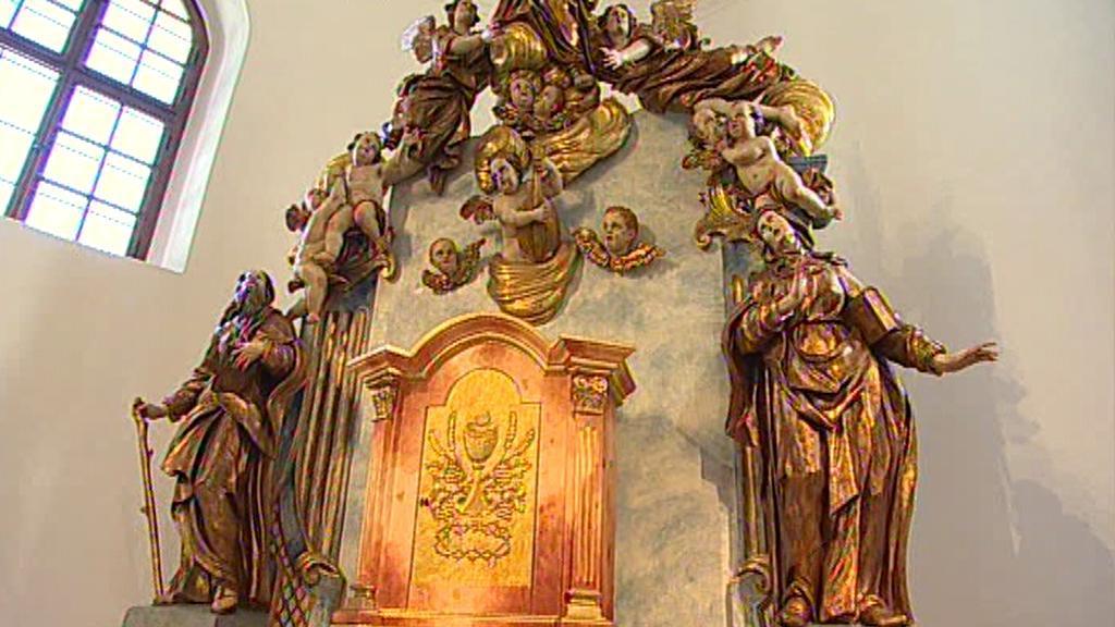 Opravený kostel Nanebevzetí Panny Marie