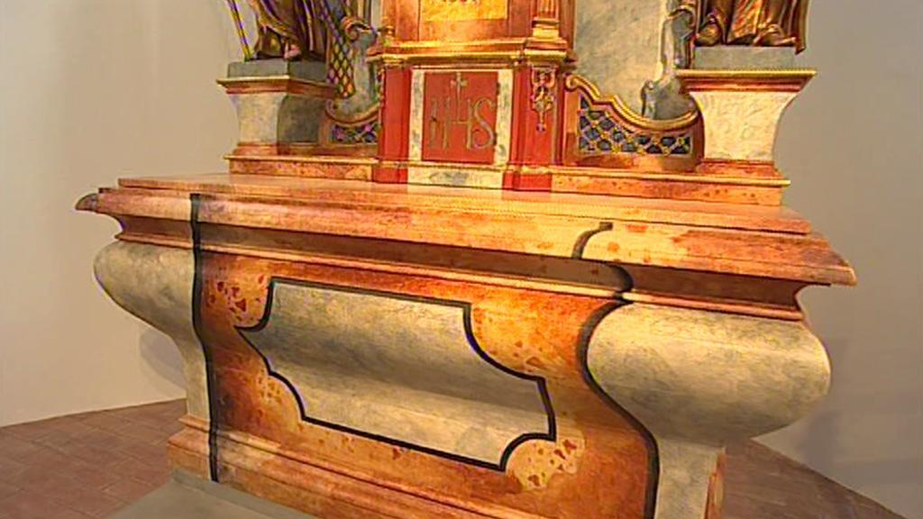 Opravený interiér kostela Nanebevzetí Panny Marie