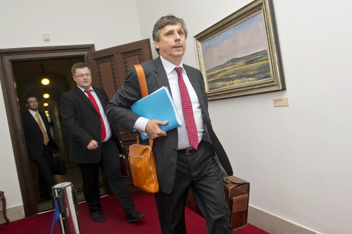 Ministr financí Jan Fischer