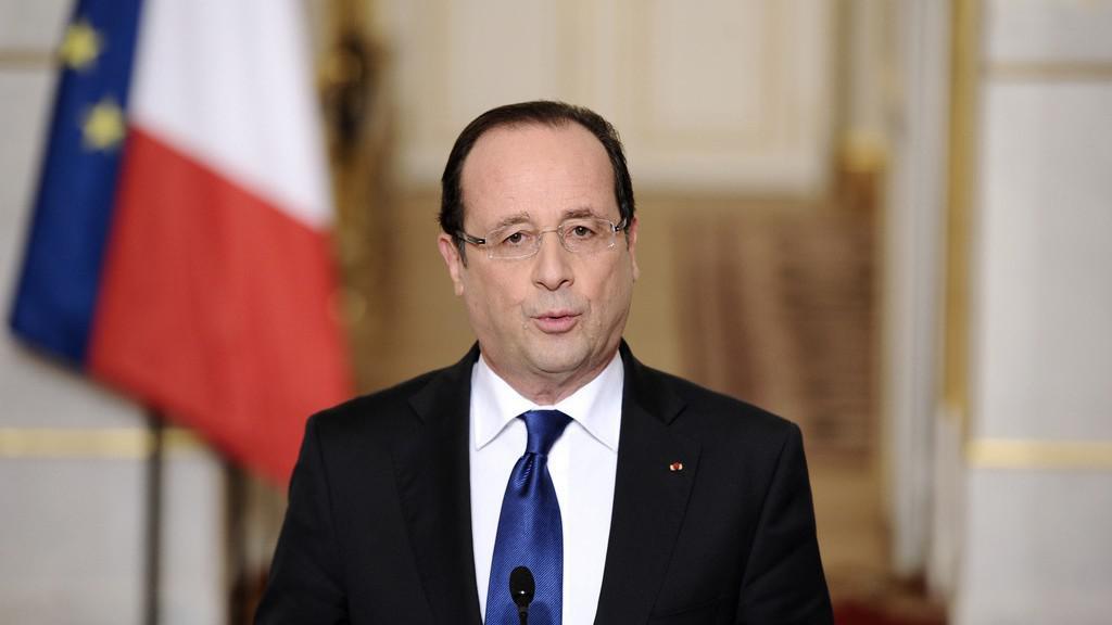 François Hollande při projevu o situaci v Mali