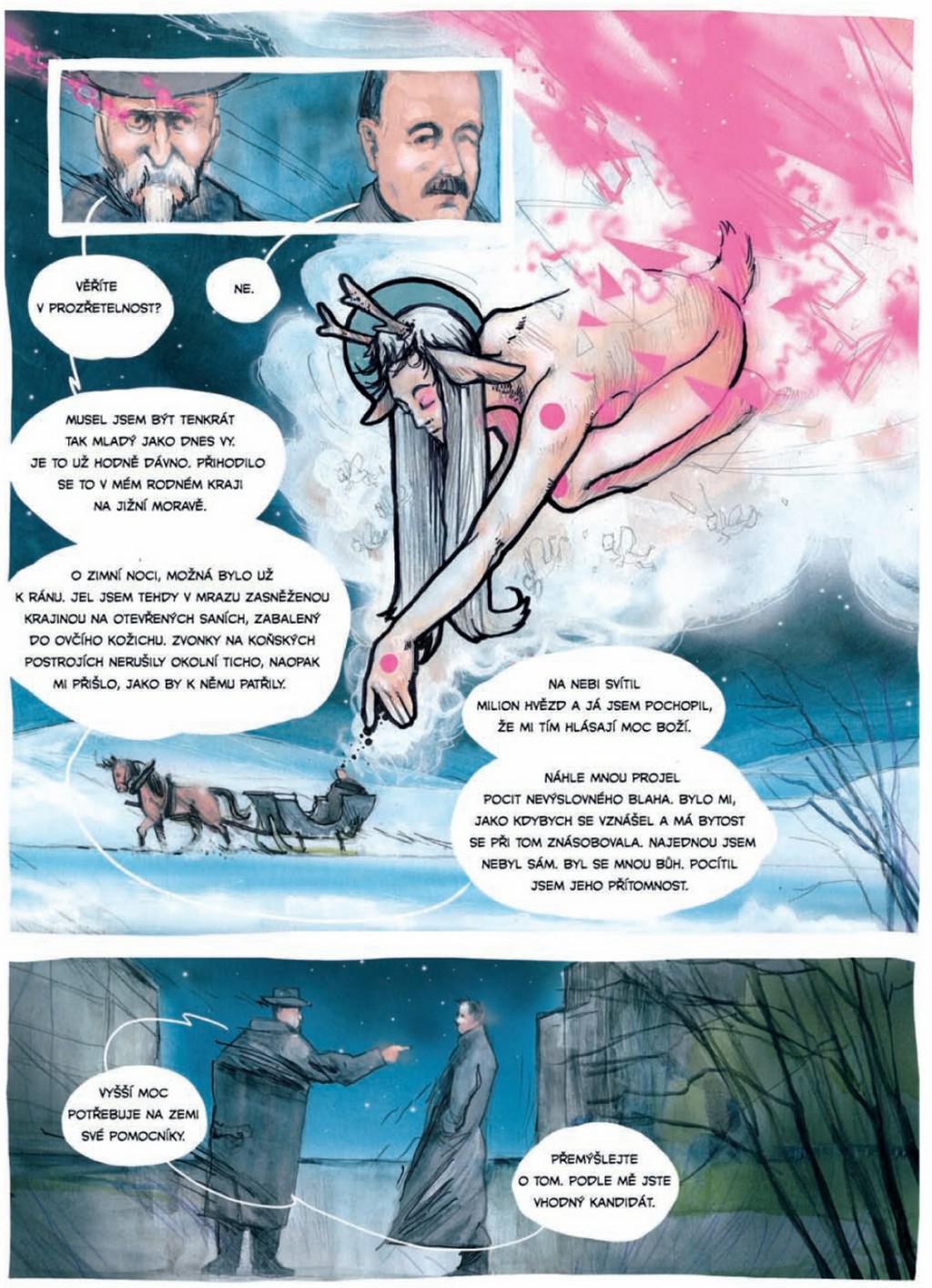 Ukázka z komiksu Jak Masaryk vymyslel Československo