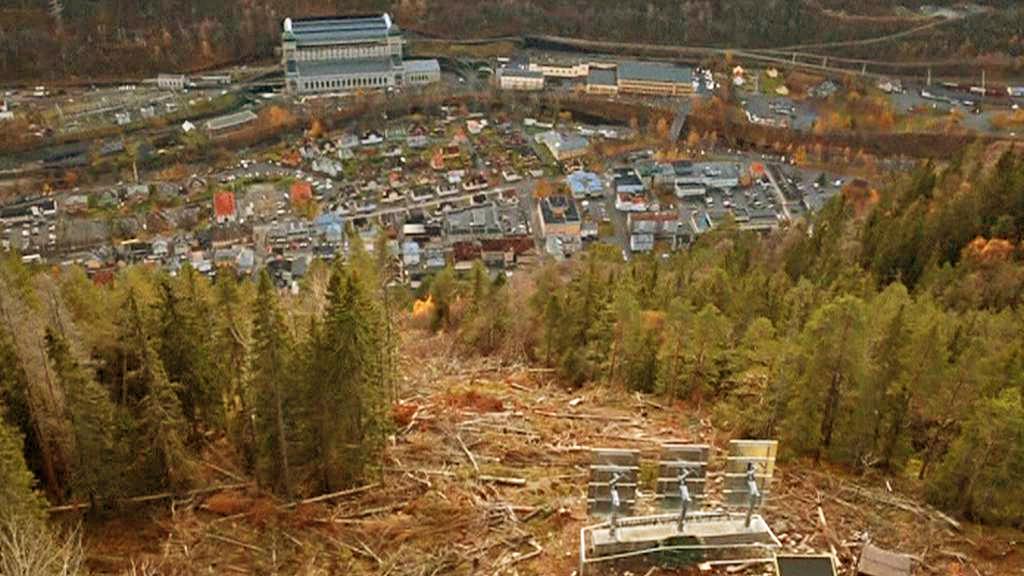 Soustava zrcadel nad norským Rjukanem