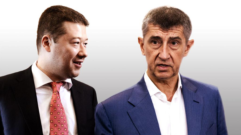 Tomio Okamura a Andrej Babiš