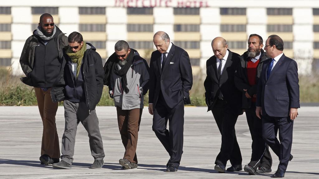 Propuštění francouzští rukojmí