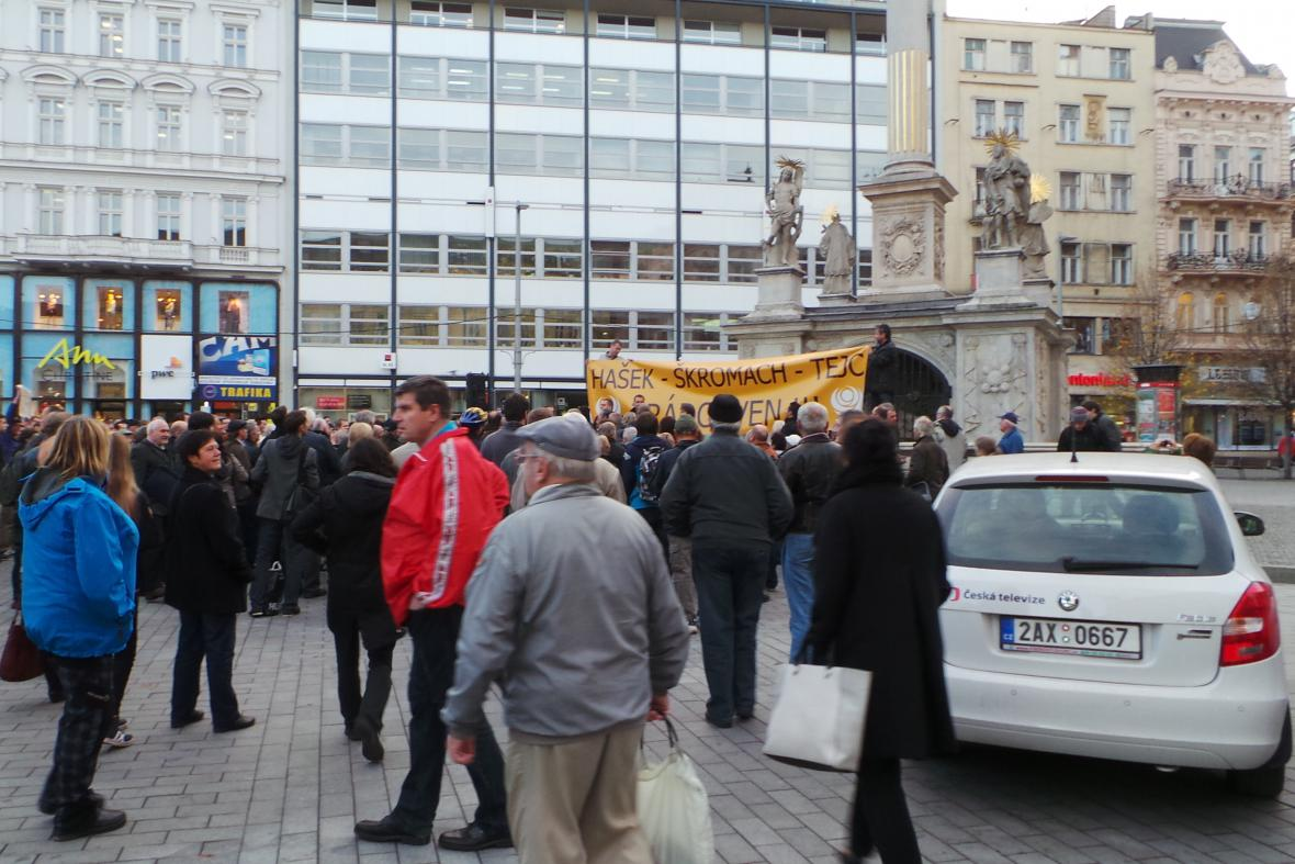 Brněnská demonstrace na podporu Bohuslava Sobotky