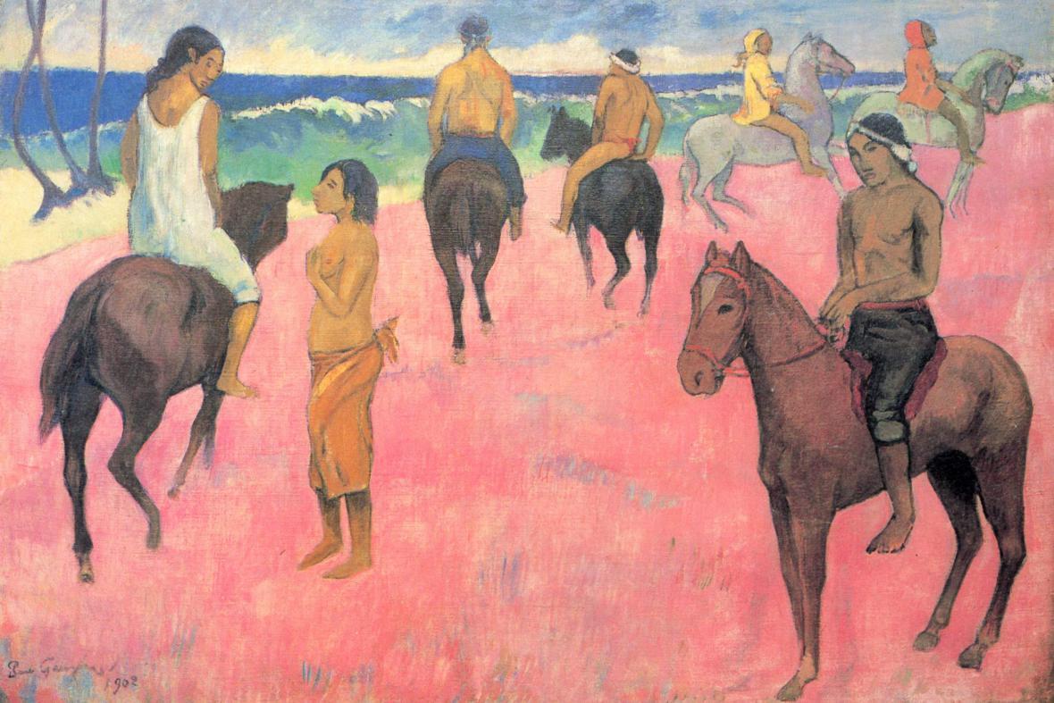 Jezdci na pláži