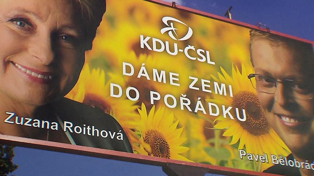 Předvolební billboard KDU-ČSL