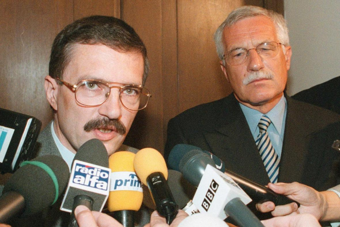 Josef Lux a Václav Klaus