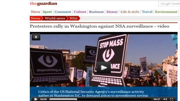 Guardian o protestech ve Washingtonu