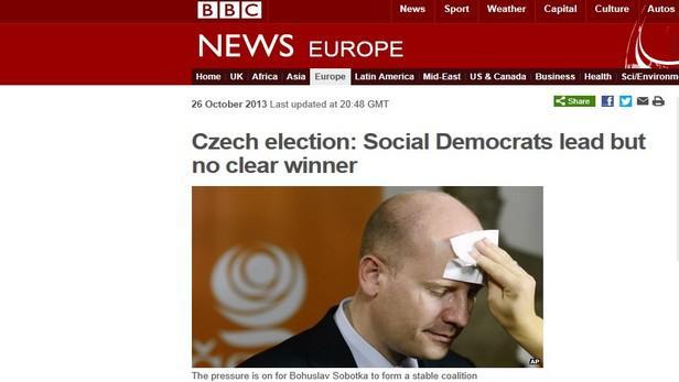 BBC o českých volbách