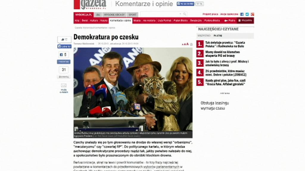 Polský list Gazeta o volbách v ČR