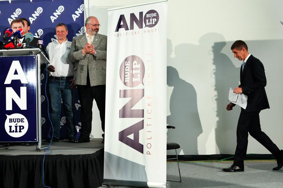 Andrej Babiš po vyhlášení výsledků voleb