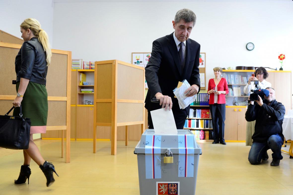 Andrej Babiš u voleb