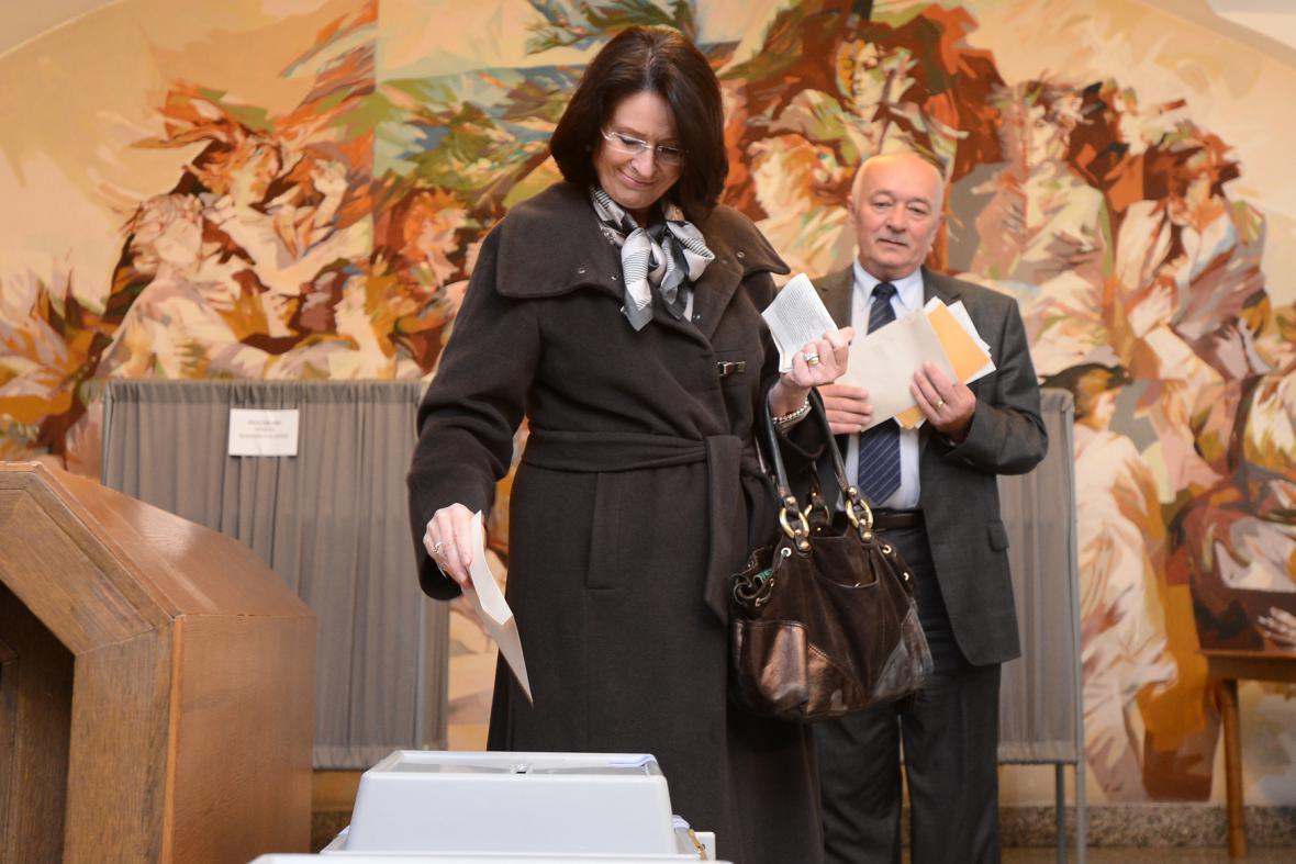 Miroslava Němcová u voleb