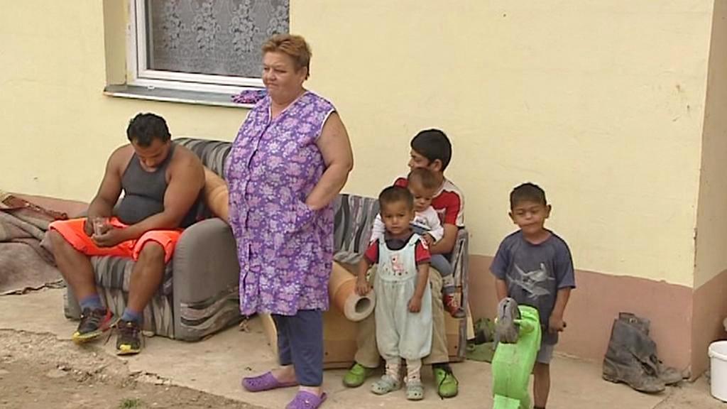 Romové v nové osadě u Letanovců