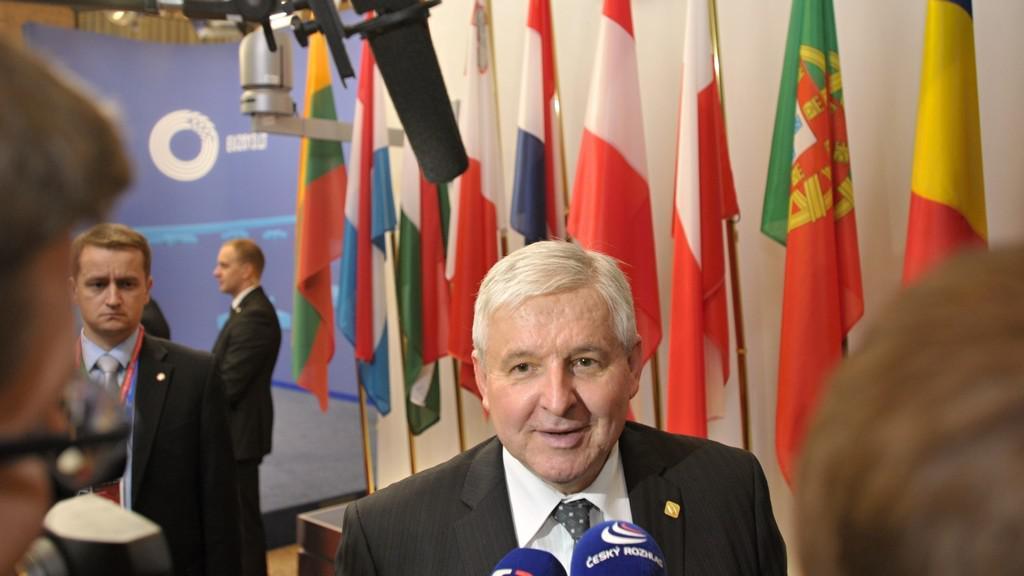 Jiří Rusnok na summitu EU