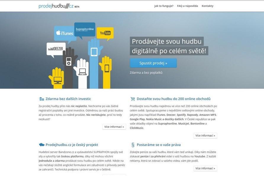 Nový portál Prodej hudbu.cz