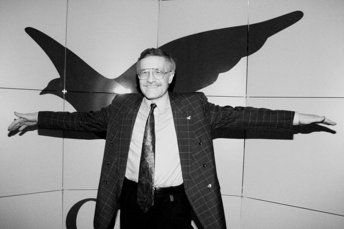 Václav Klaus na kongresu v roce 1992
