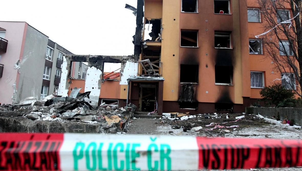 Výbuch panelového domu ve Frenštátu