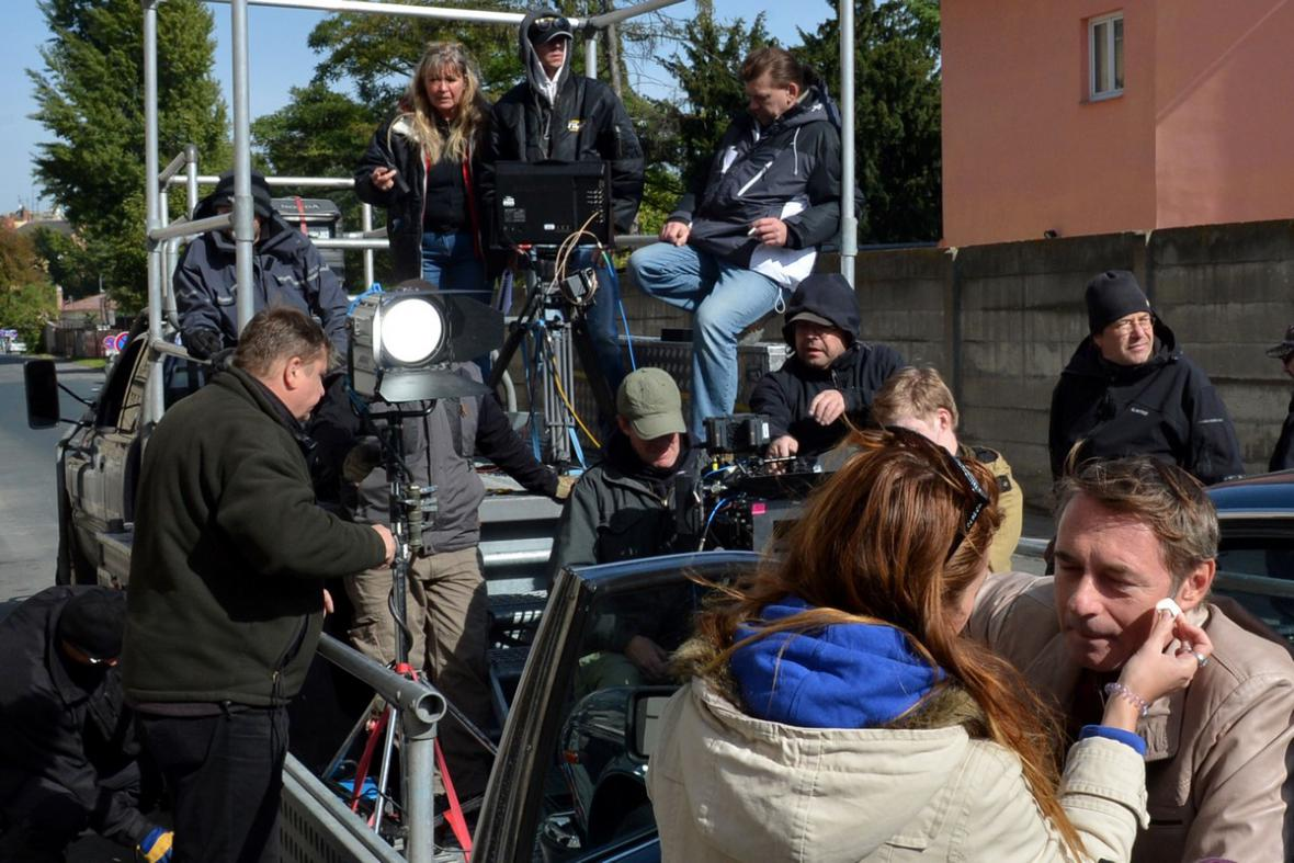 Příprava na natáčení filmu Osmy
