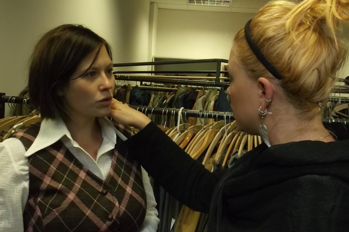 Zuzana Kajnarová na kostýmové zkoušce