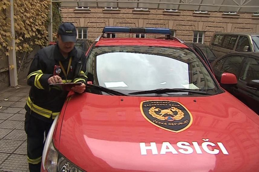 Tablety má zatím 32 hasičských aut