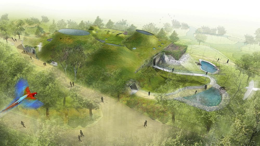Vítězný návrh pavilonu Amazonie