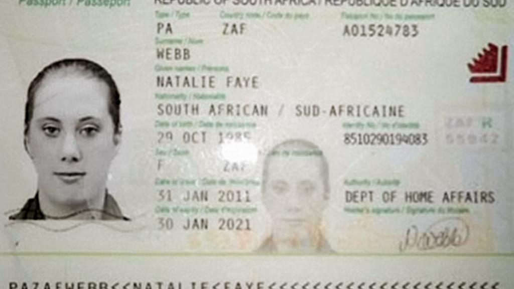 Jihoafrické doklady Samanthy Lewthwaiteové