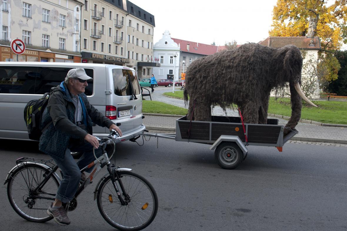 Replika mamuta putovala z konzervátorských dílen do muzea