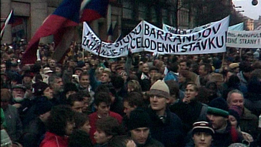 Václavské náměstí v listopadu 1989