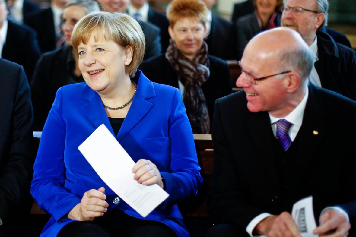 Angela Merkelová a Norbert Lammert