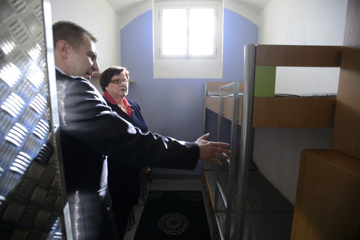 Zrekonstruované vazební cely v pankrácké věznici