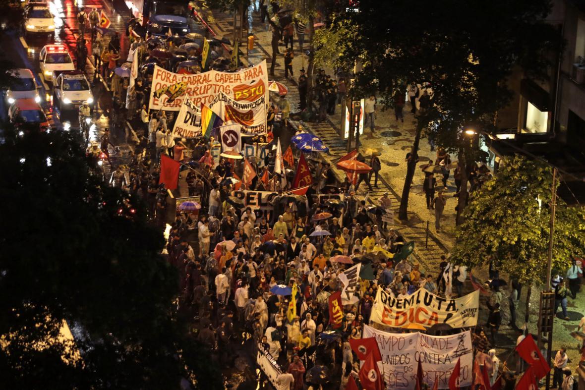 Protesty zaměstnanců Petrobrasu