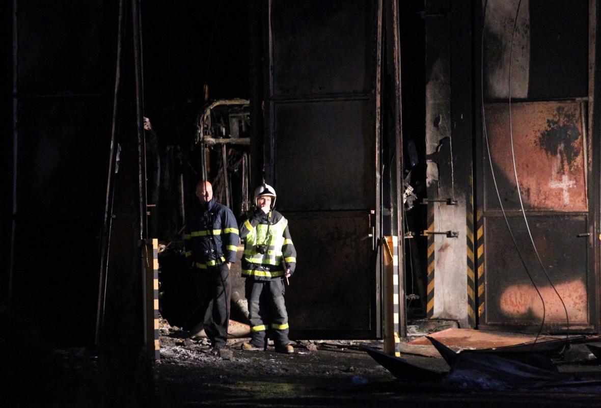 Požár v Opavě
