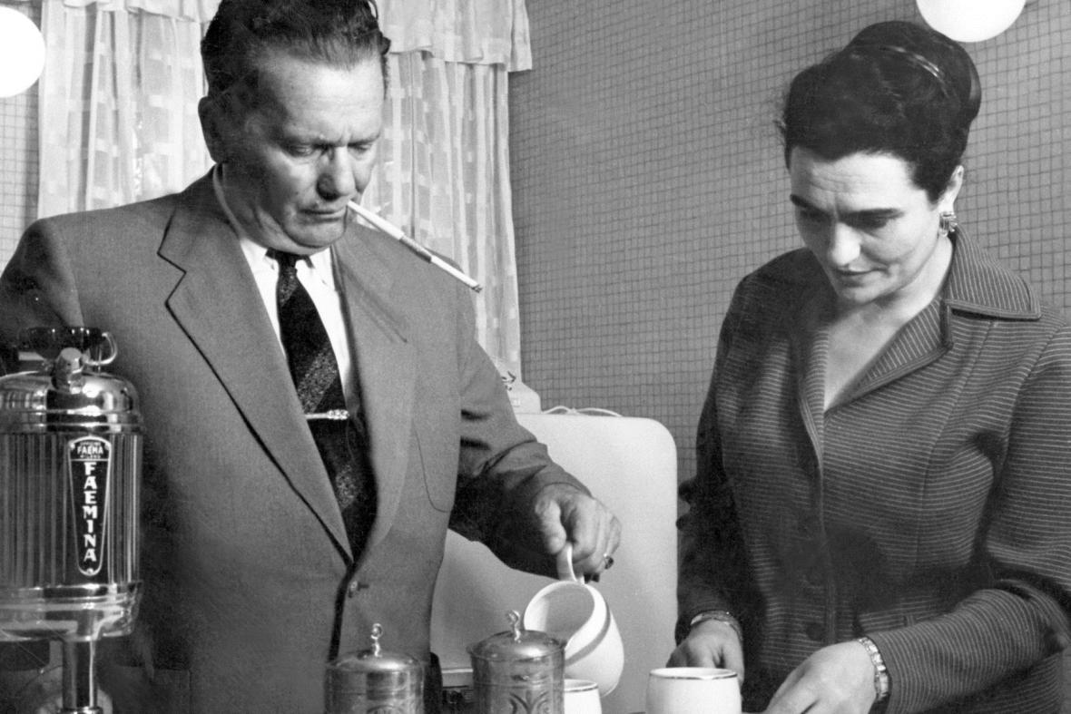 Josip Broz Tito a Jovanka Brozová