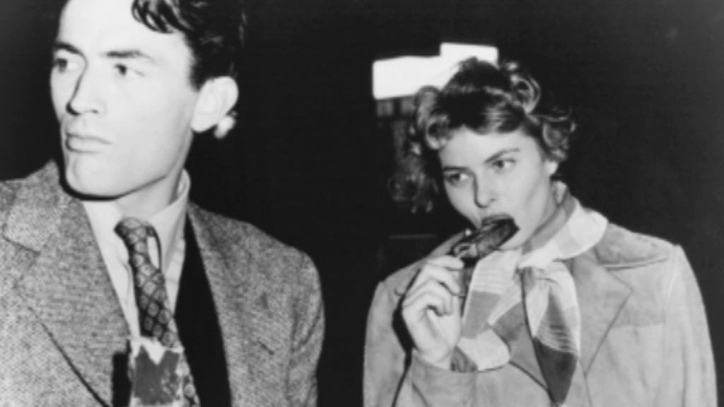 Gregory Peck a Ingrid Bergmanová na procházce