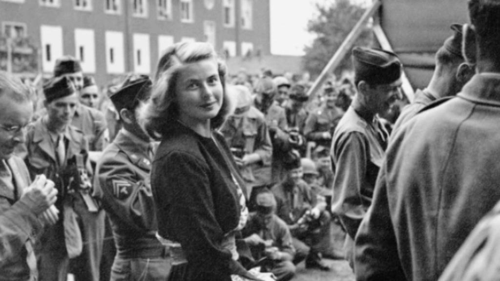 Ingrid Bergmanová na návštěvě v Berlíně